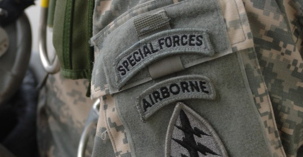 Special Forces patch with Special Forces and Airborne tabs. Advanced Searc